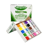 Crayola® Classpack® Thin-Line Markers, Fine Point, Assorted Colors, 200/Box
