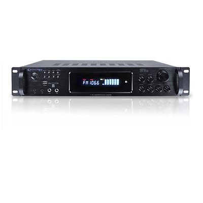 Technical Pro H1502URI Digital Hybrid Amplifier W/Preamp/Tuner/USB/SD Card Inputs, Black