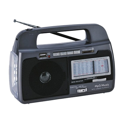 Supersonic® SC-1082 9 Band AM/FM/SW1-7 Portable Radio