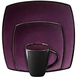 Gibson® Home Soho Lounge Dinnerware Set, 16 Piece, Purple