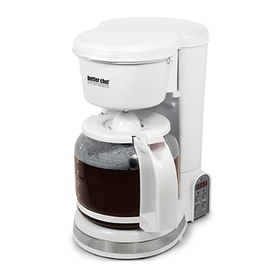 Better Chef® 12-Cup Digital Programmable Coffeemaker, White