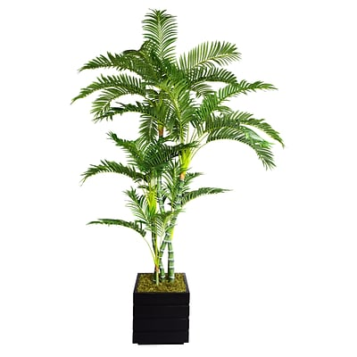 Laura Ashley 78 Palm Tree in 14 Fiberstone Planter