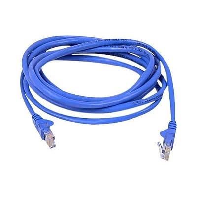 Belkin™ 14 Cat6 RJ45/RJ45 Snagless Duplex Patch Cable; Blue