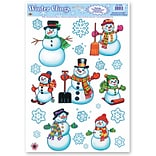 Beistle 12x17 Snowman Snowflake... Clings