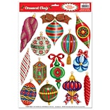 Beistle 12x17 Christmas Ornament Clings