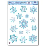 Beistle 12x17 Crystal Snowflake Clings