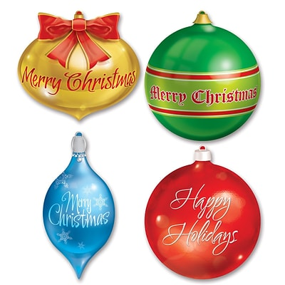 Beistle 13 1/2 - 16 1/2 Christmas Ornament Cutouts; 12/Pack