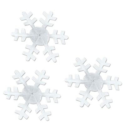 "Beistle 3 1/2"" - 4 1/2"" Winter Snowflakes Cutouts; 75/Pack"