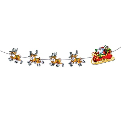Beistle Santa and Sleigh Streamer; 8