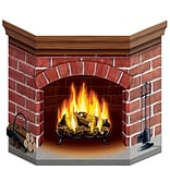 Beistle Brick Fireplace Stand Up Cutout