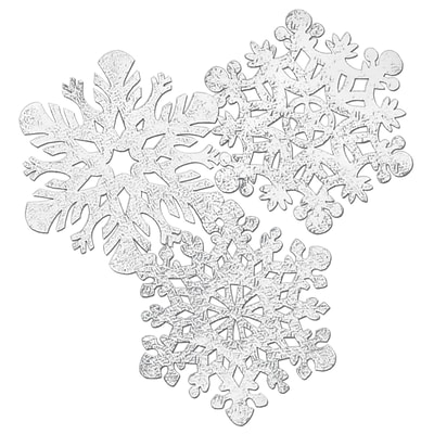 Beistle 14 Embossed Foil Snowflake Cutouts; Silver, 8/Pack