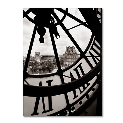 Trademark Fine Art Big Clock 24 x 32 Canvas Art