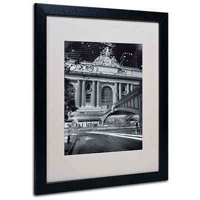 Trademark Fine Art Grand Central Night 16 x 20 Black Frame Art