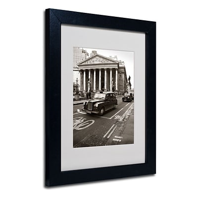 Trademark Fine Art London Exchange 11 x 14 Black Frame Art