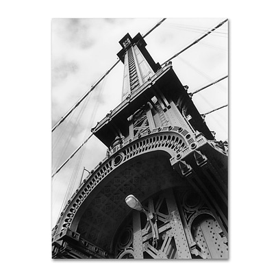 Trademark Fine Art Manhattan Bridge Detail 14 x 19 Canvas Art