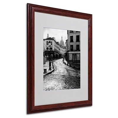 Trademark Fine Art Montmartre 16 x 20 Wood Frame Art