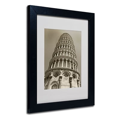 Trademark Fine Art Pisa Tower II 11 x 14 Black Frame Art