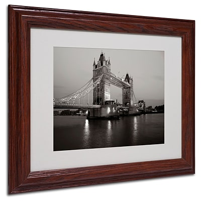 Trademark Fine Art Tower Bridge I 11 x 14 Wood Frame Art
