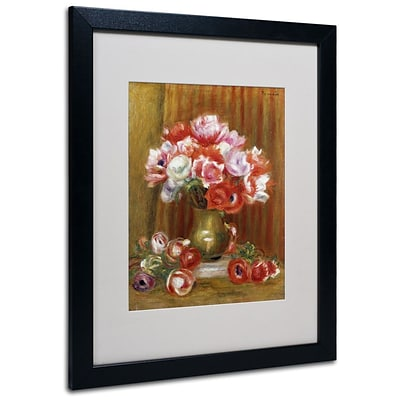 Trademark Fine Art Anemones 1909 16 x 20 Black Frame Art