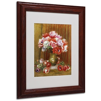 Trademark Fine Art Anemones 1909 11 x 14 Wood Frame Art