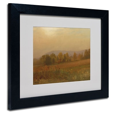 Trademark Fine Art Autumn Landscape 11 x 14 Black Frame Art