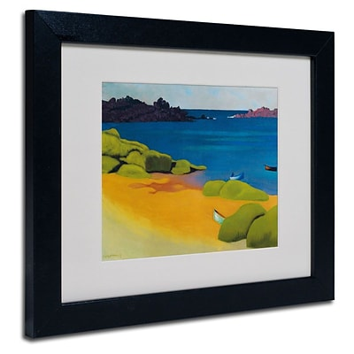 Trademark Fine Art Bay of Tregastel 1917 11 x 14 Black Frame Art