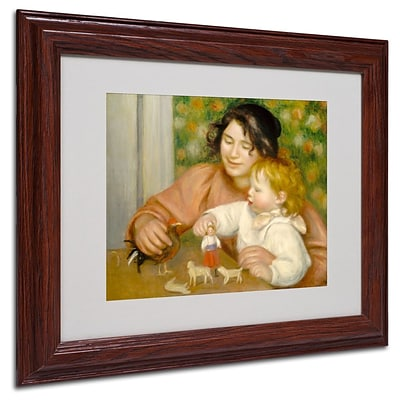 Trademark Fine Art Child With Toys 1895-96 11 x 14 Wood Frame Art