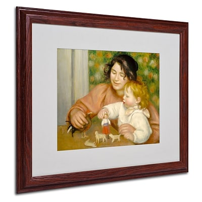 Trademark Fine Art Child With Toys 1895-96 16 x 20 Wood Frame Art