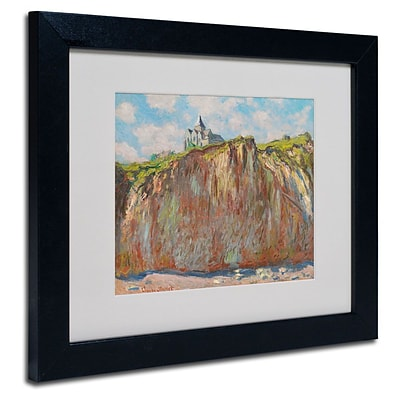 Trademark Fine Art Church at Varengeville 11 x 14 Black Frame Art