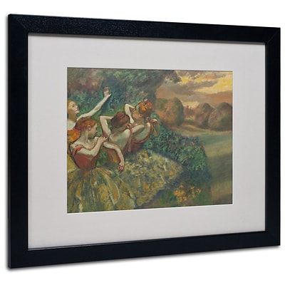 Trademark Fine Art Four Dancers 1899 16 x 20 Black Frame Art