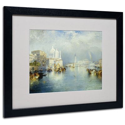 Trademark Fine Art Grand Canal Venice 1903 16 x 20 Black Frame Art