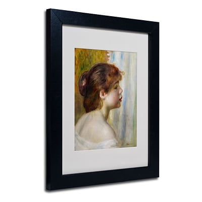 Trademark Fine Art Head of a Young Woman 11 x 14 Black Frame Art