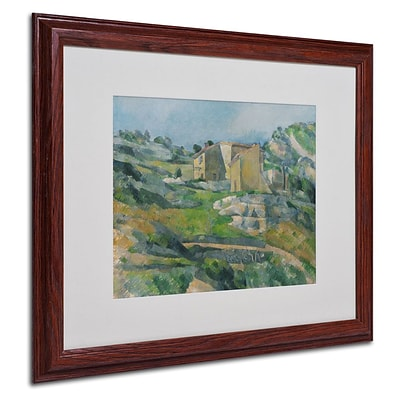 Trademark Fine Art Houses In the Provence 1833 16 x 20 Wood Frame Art