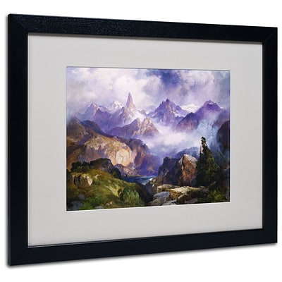 Trademark Fine Art Index Peak 1914 16 x 20 Black Frame Art