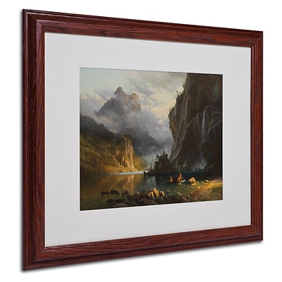 Trademark Fine Art Indians Spear Fishing 16 x 20 Wood Frame Art