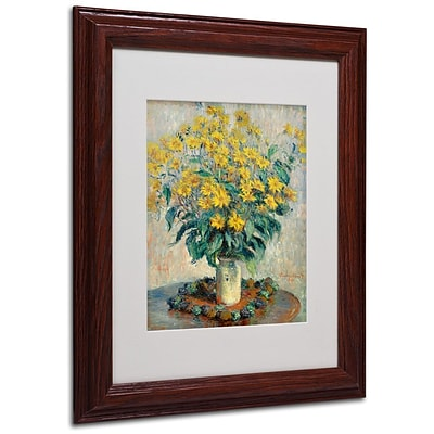 Trademark Fine Art Jerusalem Artichoke Flowers 11 x 14 Wood Frame Art