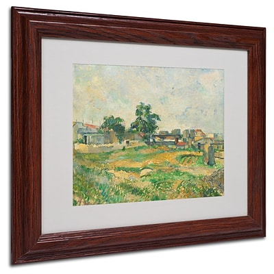 Trademark Fine Art Landscape Near Paris 1876 11 x 14 Wood Frame Art