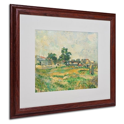 Trademark Fine Art Landscape Near Paris 1876 16 x 20 Wood Frame Art