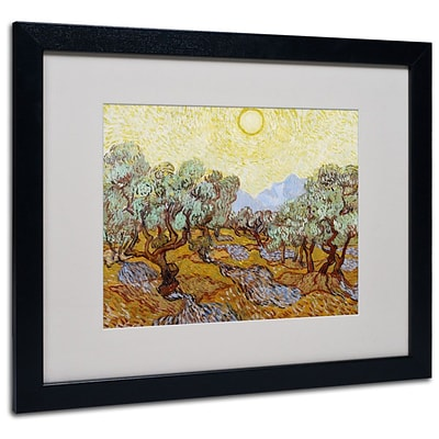 Trademark Fine Art Olive Trees 1889 16 x 20 Black Frame Art