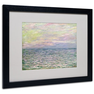 Trademark Fine Art Coucher de Soleil a Pourvil 16 x 20 Black Frame Art