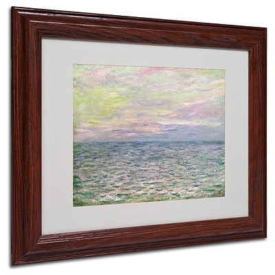 Trademark Fine Art Coucher de Soleil a Pourvil 11 x 14 Wood Frame Art