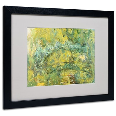 Trademark Fine Art Passage On Waterlily Pond 16 x 20 Black Frame Art