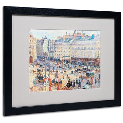 Trademark Fine Art Place du Havre 1893 16 x 20 Black Frame Art