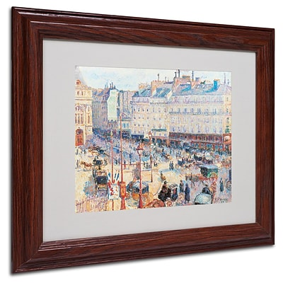 Trademark Fine Art Place du Havre 1893 11 x 14 Wood Frame Art