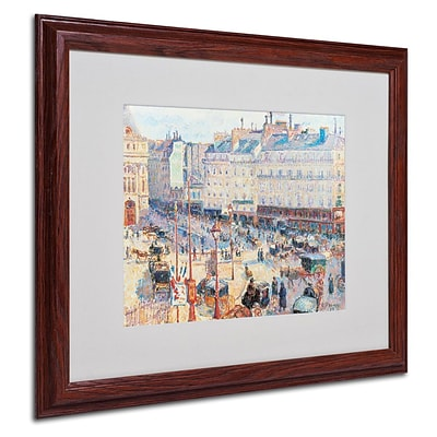 Trademark Fine Art Place du Havre 1893 16 x 20 Wood Frame Art