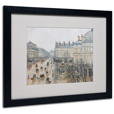 Trademark Fine Art Place du Theatre 16 x 20 Black Frame Art
