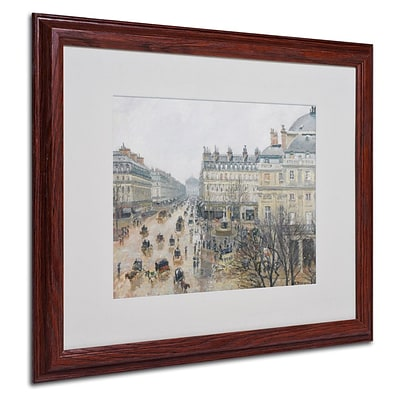 Trademark Fine Art Place du Theatre 16 x 20 Wood Frame Art