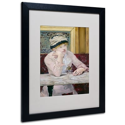 Trademark Fine Art Plum Brandy 1877 16 x 20 Black Frame Art