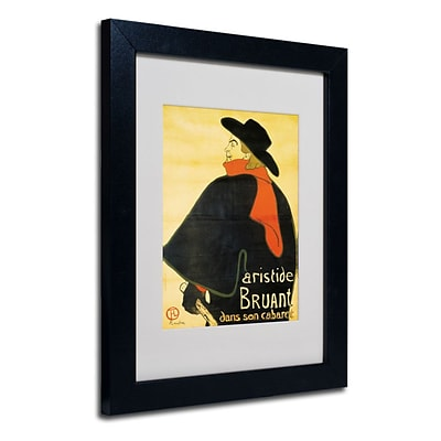 Trademark Fine Art Aristide Bruant 11 x 14 Black Frame Art