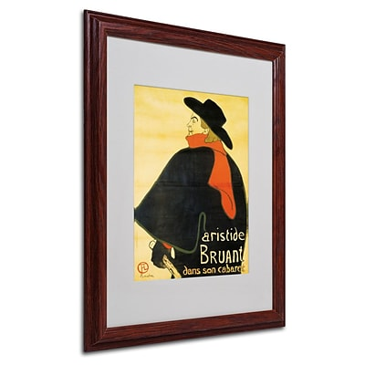 Trademark Fine Art Aristide Bruant 16 x 20 Wood Frame Art